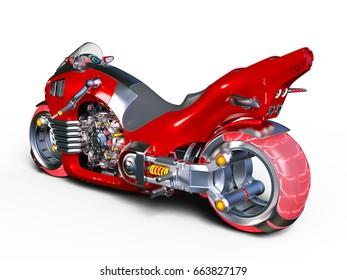 3D CG rendering of a motorcycle