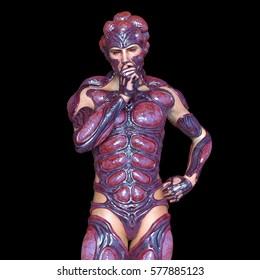 3D CG rendering of a mutant man
