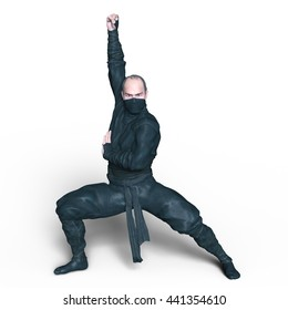 3D CG rendering of a ninja
