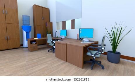 3D CG rendering of office