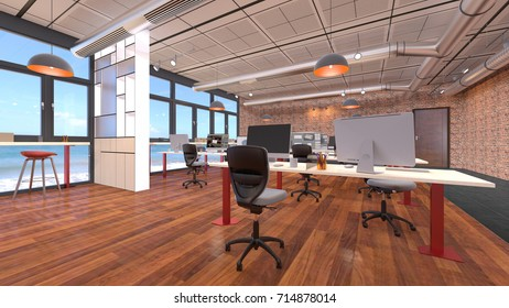 3D CG rendering of the office