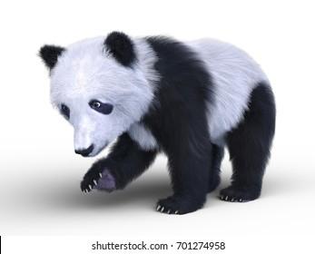 3D CG rendering of a panda
