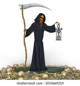 3D CG rendering of a reaper