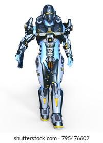 3D CG rendering of a robot