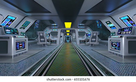 3D CG rendering of the space station