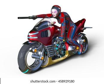 3D CG rendering of a super woman