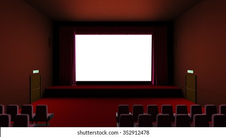 3D CG rendering of theater