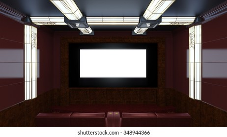 3D CG rendering of a theater room