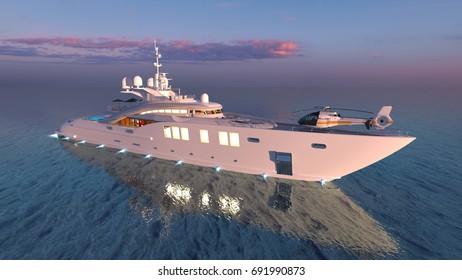 3D CG rendering of the transportation ship