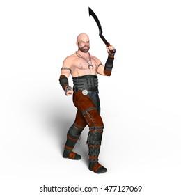 3D CG rendering of a warrior