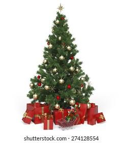 3D. Christmas Tree, Christmas, Christmas Decoration.