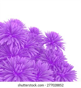 3d chrysanthemums bouquet background
