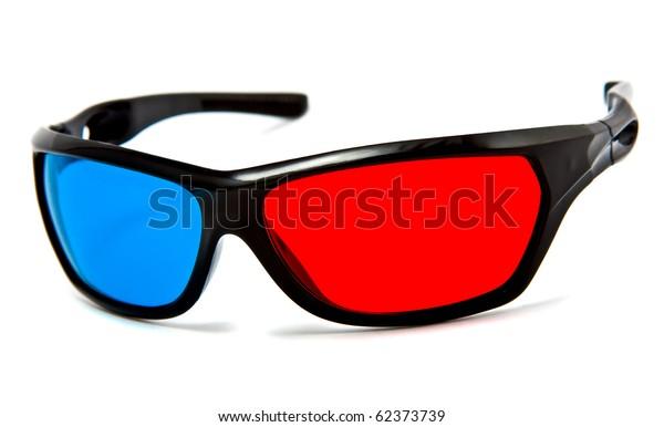 3d cinema glasses isolated on white