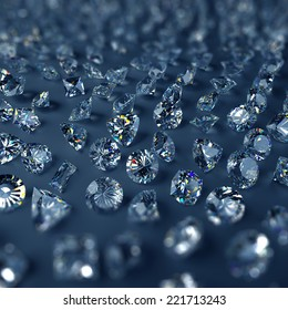 3d clear sparkling brilliants and diamonds background