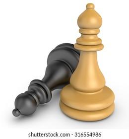 3d color chess pieces
