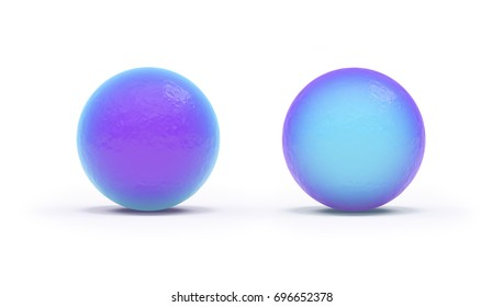 3d color polygonal ball on white background with shadow