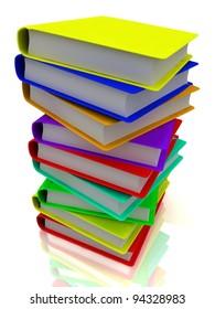 3D column of books