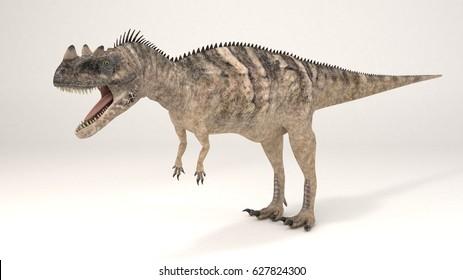 3D Computer rendering illustration of Ceratosaurus