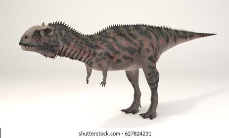 3D Computer rendering illustration of Majungasaurus