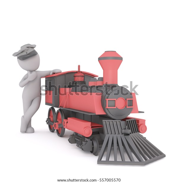 3d Conductor Driver His Uniform Cap Stock Photo (Edit Now