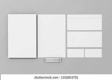 3d corporate id blank template papers