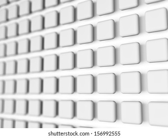 3d cubes background with slight depth of field