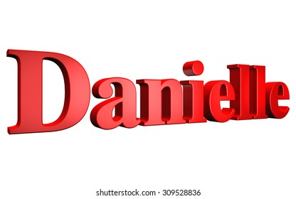 3D Danielle text on white background