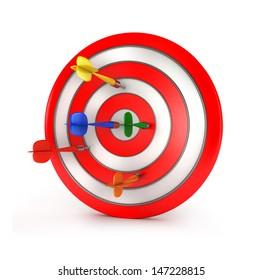 3d darts concept