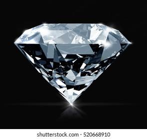3D Diamond illustration.