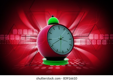 3d Digital illustration of alarm clock alarm clock