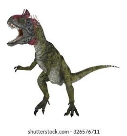 3D digital render of a dinosaur Cryolophosaurus isolated on white background
