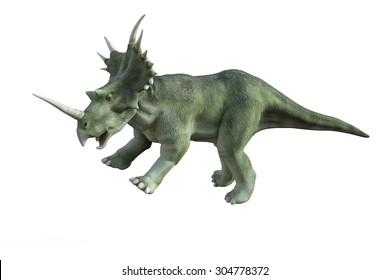3D digital render of a dinosaur styracosaurus isolated on white background