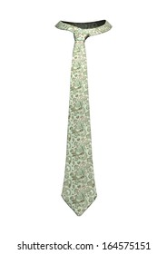 3D digital render of an elegant retro man's neck tie isolated on white background