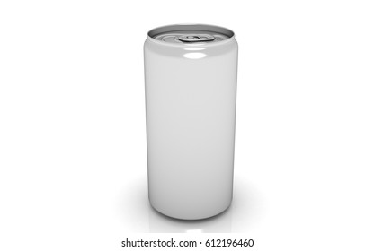 3D drink can on white background