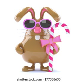 3d Easter Bunny with some candy