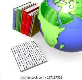 3d Educational concept