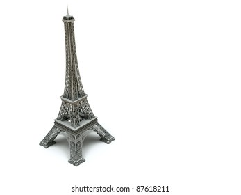 3d Eiffel Tower on a white background