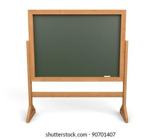 3d Empty Blackboard