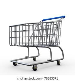 3D empty shopping cart
