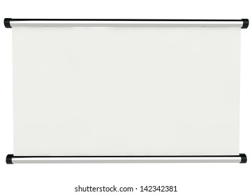 3d empty signboard on white background