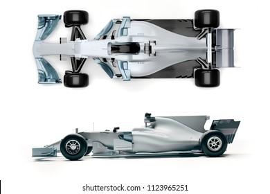 3d f1 race car render