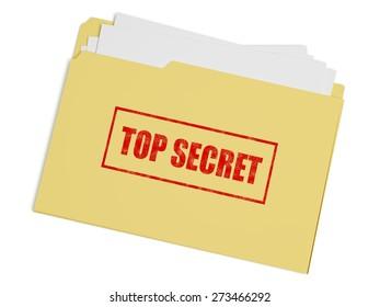 3D. File, Top Secret, Secrecy.