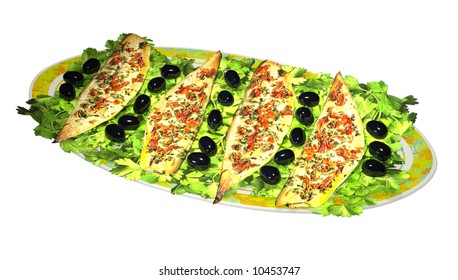 3D fish dish with slices