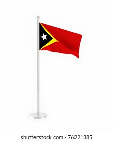 3D flag of East Timor
