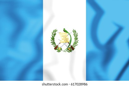 3D Flag of the Guatemala. 3D Illustration.