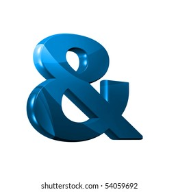 3D font with abstract BLUE texture - and