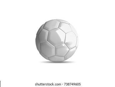 3d football ball mockup