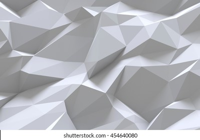 3D generated abstract white pattern as a background