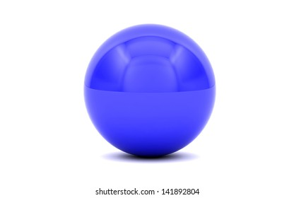 3D generated blue ball