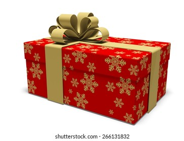 3D. Gift, Christmas, Christmas Present.
